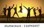 friends having fun | Shutterstock . vector #116943457