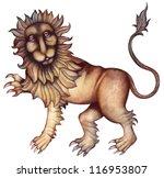 leo. zodiac sign  symbol in...   Shutterstock . vector #116953807
