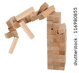 Wooden blocks. Conceptual. - stock photo
