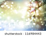 Stars and circles space background - stock photo