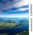 aerial view the great river... | Shutterstock . vector #116990467