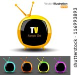 vector television circle | Shutterstock .eps vector #116993893