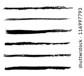 set of vector brushes | Shutterstock .eps vector #116997793