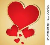 valentine's day vector... | Shutterstock .eps vector #117000403