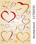 random hearts | Shutterstock .eps vector #11700532