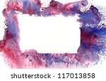 Blue watercolor  banner  with nice  effects - stock photo