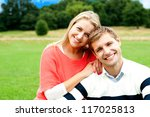 lovely young couple striking a... | Shutterstock . vector #117025813