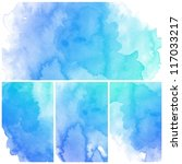 set of colorful abstract blue...   Shutterstock . vector #117033217
