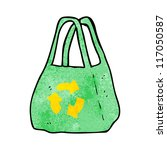 recycled bag cartoon | Shutterstock .eps vector #117050587
