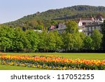 Baden-Baden in spring - stock photo
