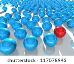 abstract spheres on reflective... | Shutterstock . vector #117078943