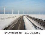 dutch highway in wintertime... | Shutterstock . vector #117082357