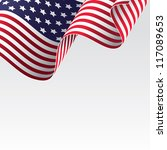 usa flag  raster version  ... | Shutterstock . vector #117089653