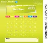 october 2013 calendar vector...   Shutterstock .eps vector #117099493