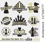 vector set  vintage chess...
