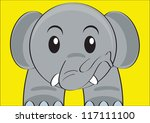 illustration of elephant - stock vector