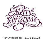 Merry Christmas Vector Calligraphic Lettering. - stock vector