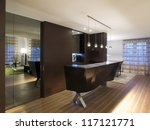 Modern house bar and kitchen - stock photo