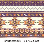 Seamless colorful aztec pattern - stock vector