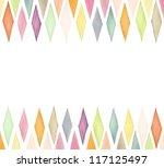 designed watercolor background | Shutterstock . vector #117125497
