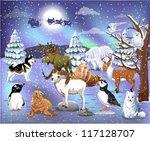 arctic animals   Shutterstock .eps vector #117128707