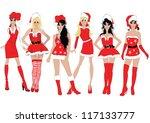 new year girls   Shutterstock .eps vector #117133777