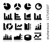 diagrams icons | Shutterstock .eps vector #117143107