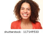 Beautiful Lady with a beautiful face - stock photo