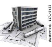 3d rendering of a modern...   Shutterstock . vector #117149683