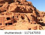 the outer siq  in petra  jordan | Shutterstock . vector #117167053