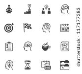 productivity improvement icons | Shutterstock .eps vector #117177283