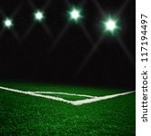 soccer green field | Shutterstock . vector #117194497