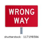 Wrong way - stock vector