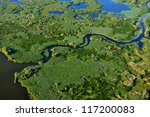 aerial view of wetland | Shutterstock . vector #117200083