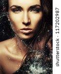 fashion art portrait .beauty... | Shutterstock . vector #117202987