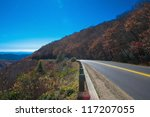 Blue Ridge Parkway Landscape at north carolina - stock photo