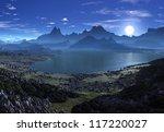 fantasy landscape with... | Shutterstock . vector #117220027