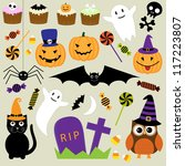 halloween elements. raster... | Shutterstock . vector #117223807