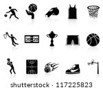 Basketball Icons set - stock vector