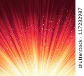 snowflakes and stars descending ...   Shutterstock .eps vector #117232987