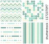 set of seamless retro geometric ... | Shutterstock .eps vector #117237097