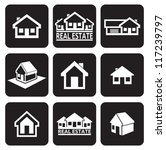house icons set. real estate. | Shutterstock .eps vector #117239797