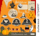 halloween design elements | Shutterstock .eps vector #117240997