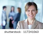image of pretty business leader ... | Shutterstock . vector #117241063