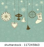 christmas retro background with ...