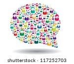 bubble of communication in... | Shutterstock .eps vector #117252703
