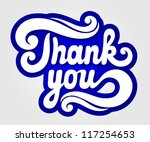 'thank you' hand lettering | Shutterstock .eps vector #117254653