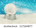 christmas snow globe with snow... | Shutterstock . vector #117264877