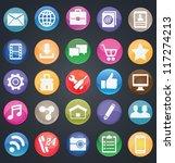 set of social media buttons for ... | Shutterstock .eps vector #117274213