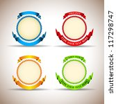 ribbon award mix   vector... | Shutterstock .eps vector #117298747